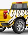 Full-Size Pickup Truck Mockup - Back Half Side View