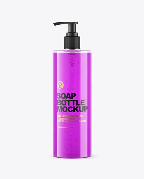 Soap Bottle with Pump Mockup