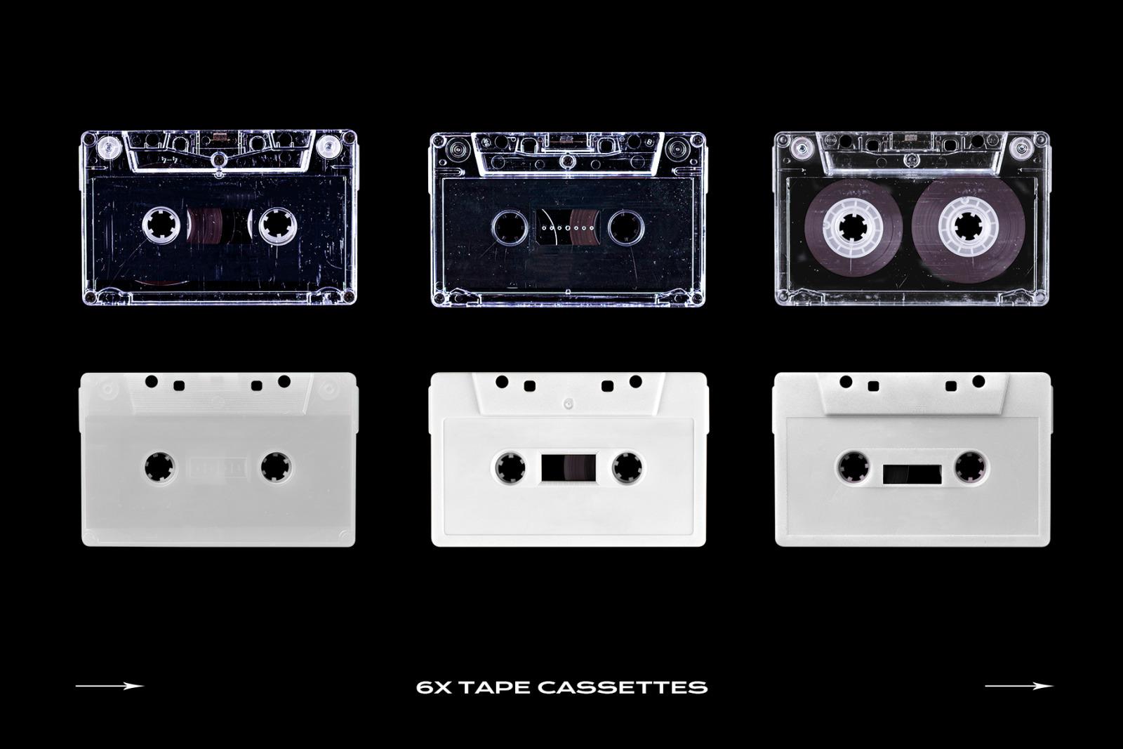 Cassette Tape Mockup Bundle Plastic
