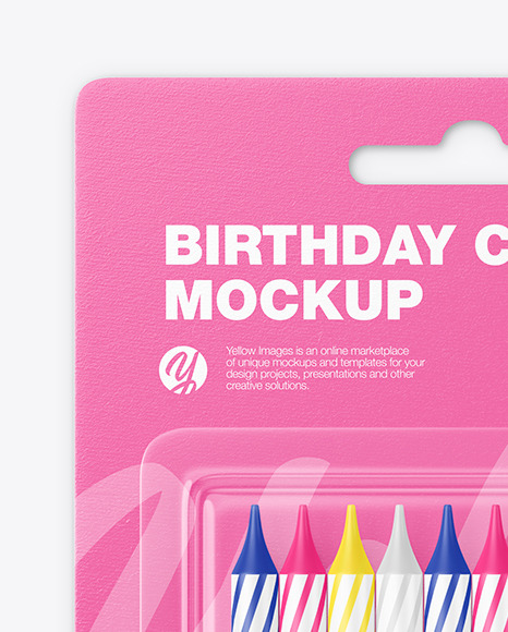 Blister Pack with 10 Candles Mockup