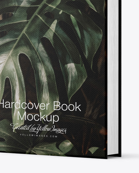 Download Hardcover Book W Fabric Cover Mockup In Stationery Mockups On Yellow Images Object Mockups PSD Mockup Templates