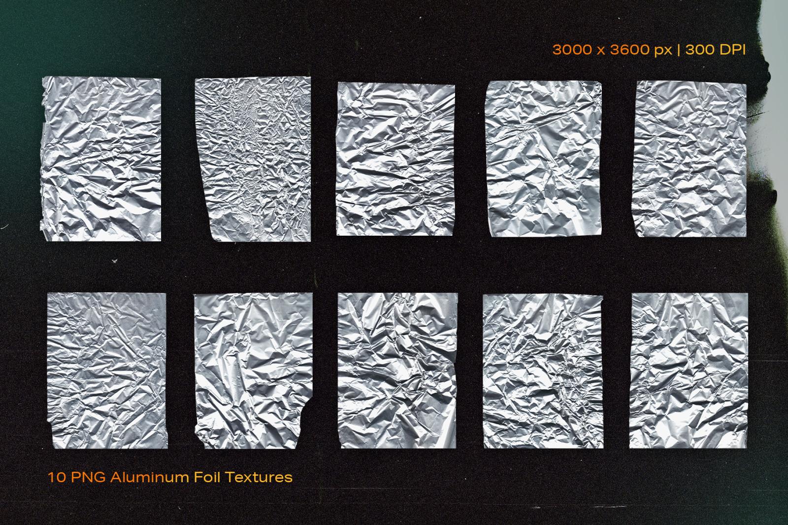 Aluminum Foil Textures
