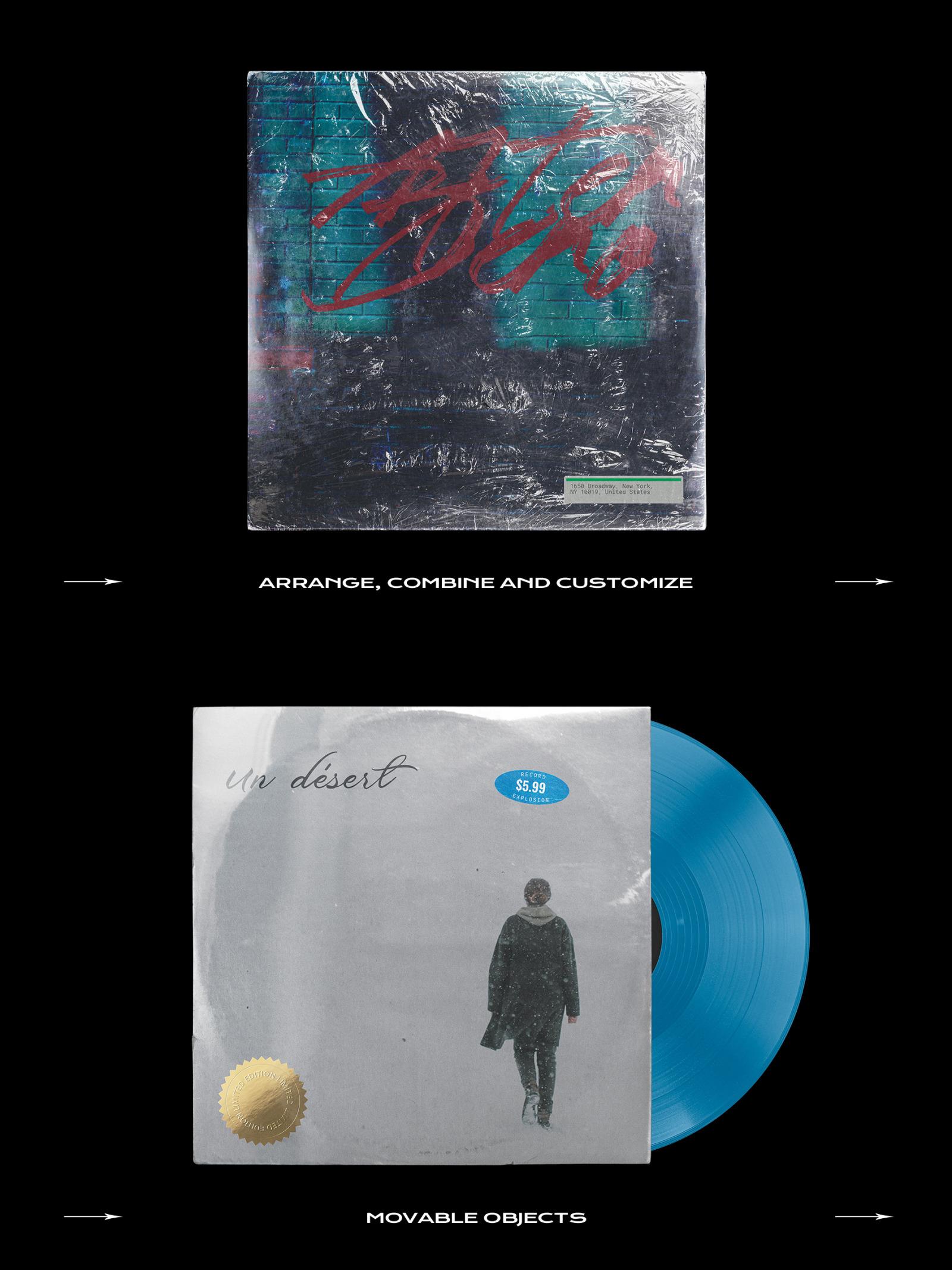 Vinyl Record Mockup Bundle