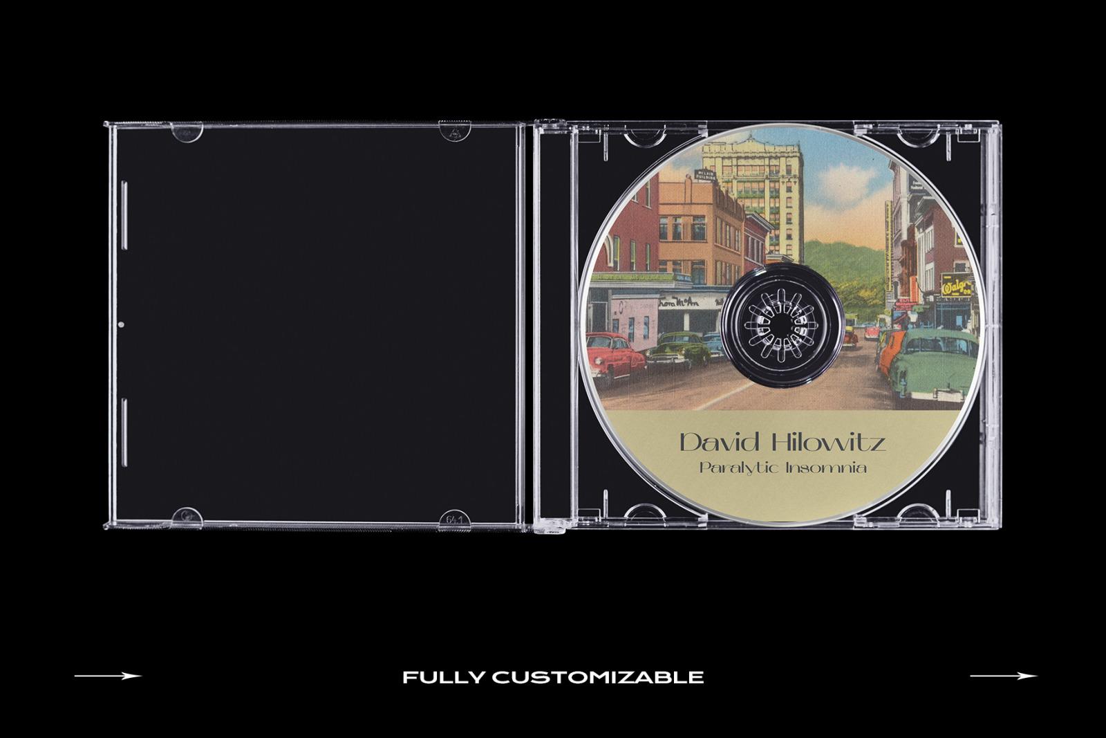 CD Case Mockup Template Bundle Disc
