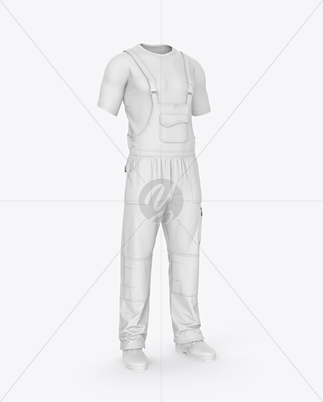 Summer Overalls – Front Half Side View