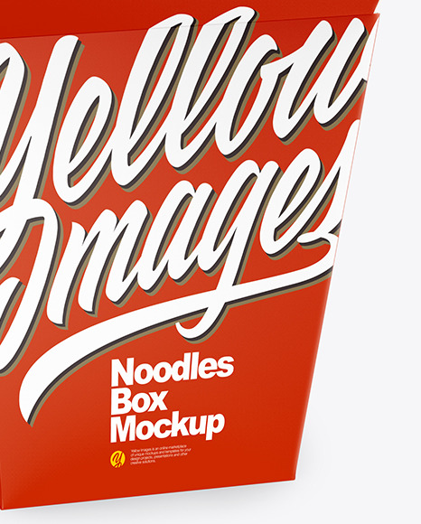 Download Opened Matte Paper Noodles Box Mockup Half Side View In Box Mockups On Yellow Images Object Mockups