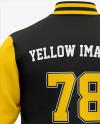 Men's Letterman Jacket or Varsity Jackets - Back View