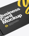 Business Card Cover Mockup - Half Side View