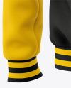 Men's Letterman Jacket or Varsity Jackets - Back Half Side View