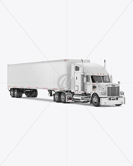 Truck Mockup - Half Side View