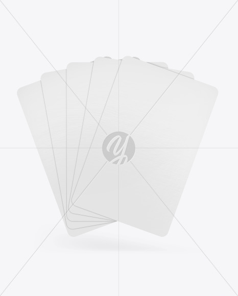 Five Playing Cards Mockup