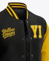 Men's Letterman Jacket or Varsity Jackets - Front Half Side View