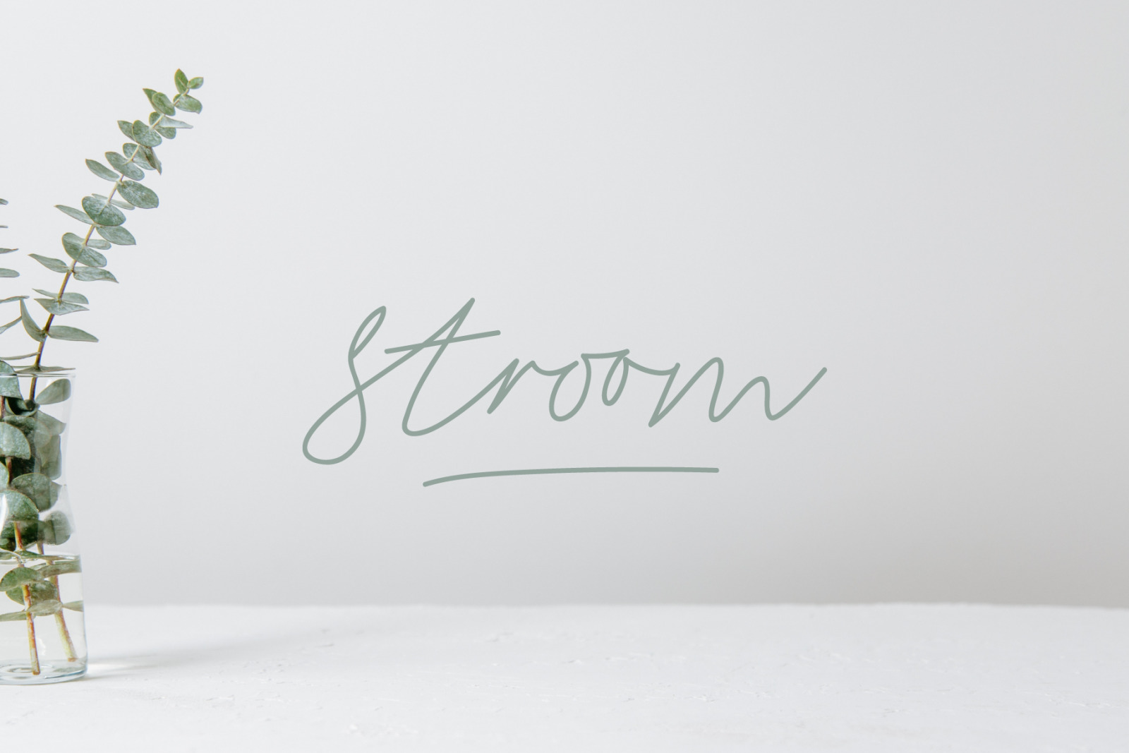 Stroom script - signature font