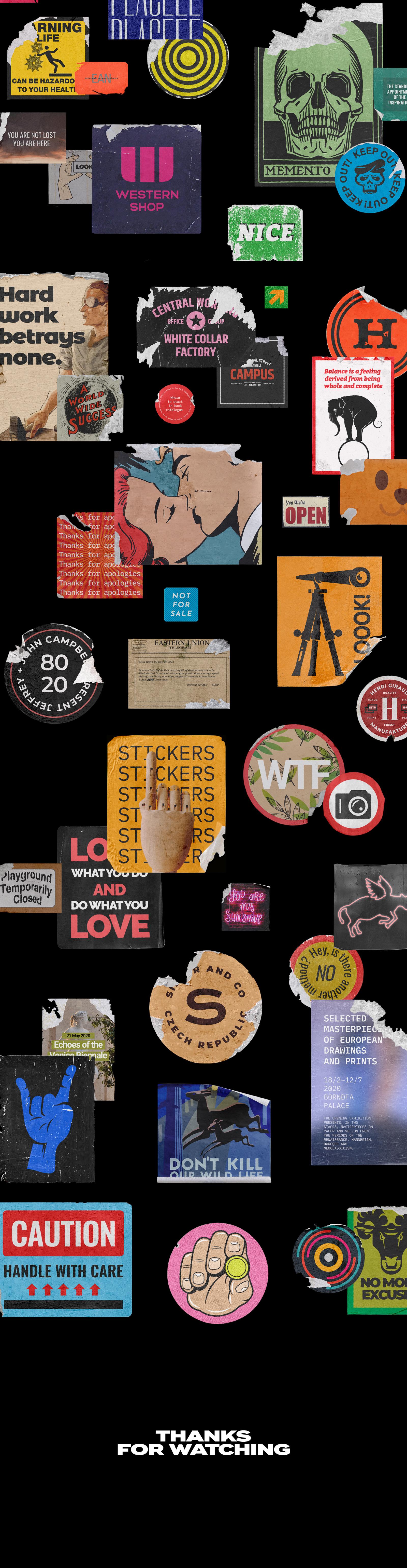 Sticker Mockup Bundle Logo Branding