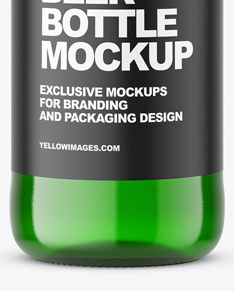 Download Green Beer Bottle Mockup In Bottle Mockups On Yellow Images Object Mockups