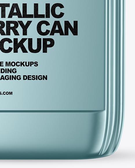 Metallic Jerrycan Mockup