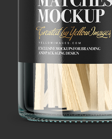 Bottle With Matches Mockup