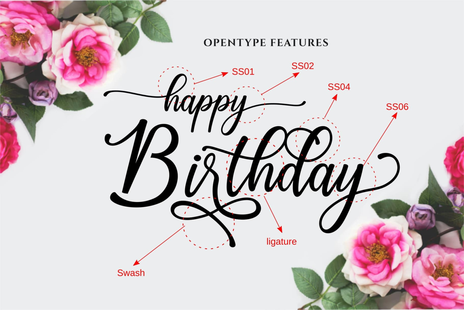 Happy Birthday // Pretty font