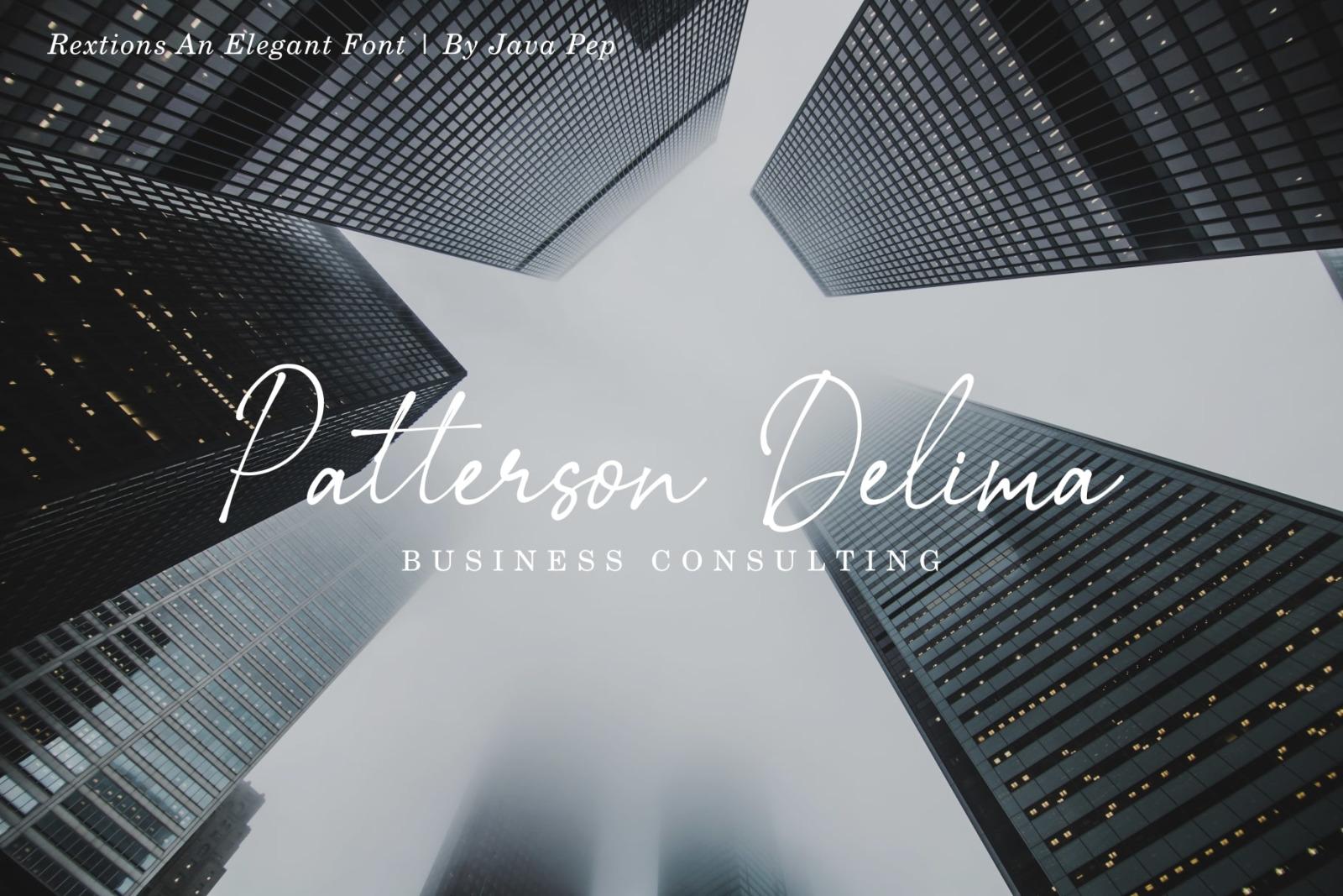 Rextions / an elegant font