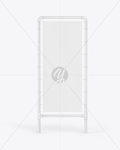 Plastic Stand w/ Fabric Banner Mockup