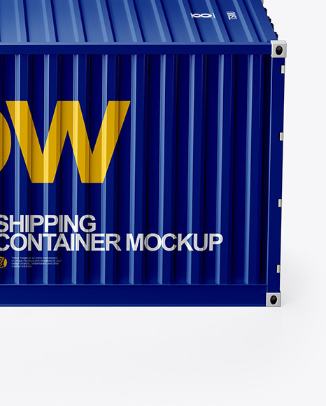 Shipping Container Mockup Side View