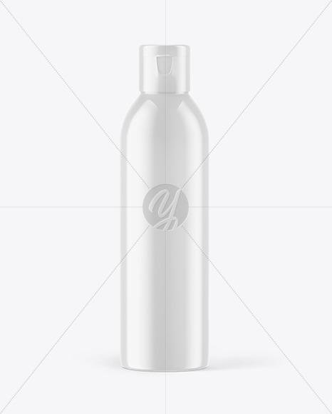 Glossy Shower Gel Bottle Mockup