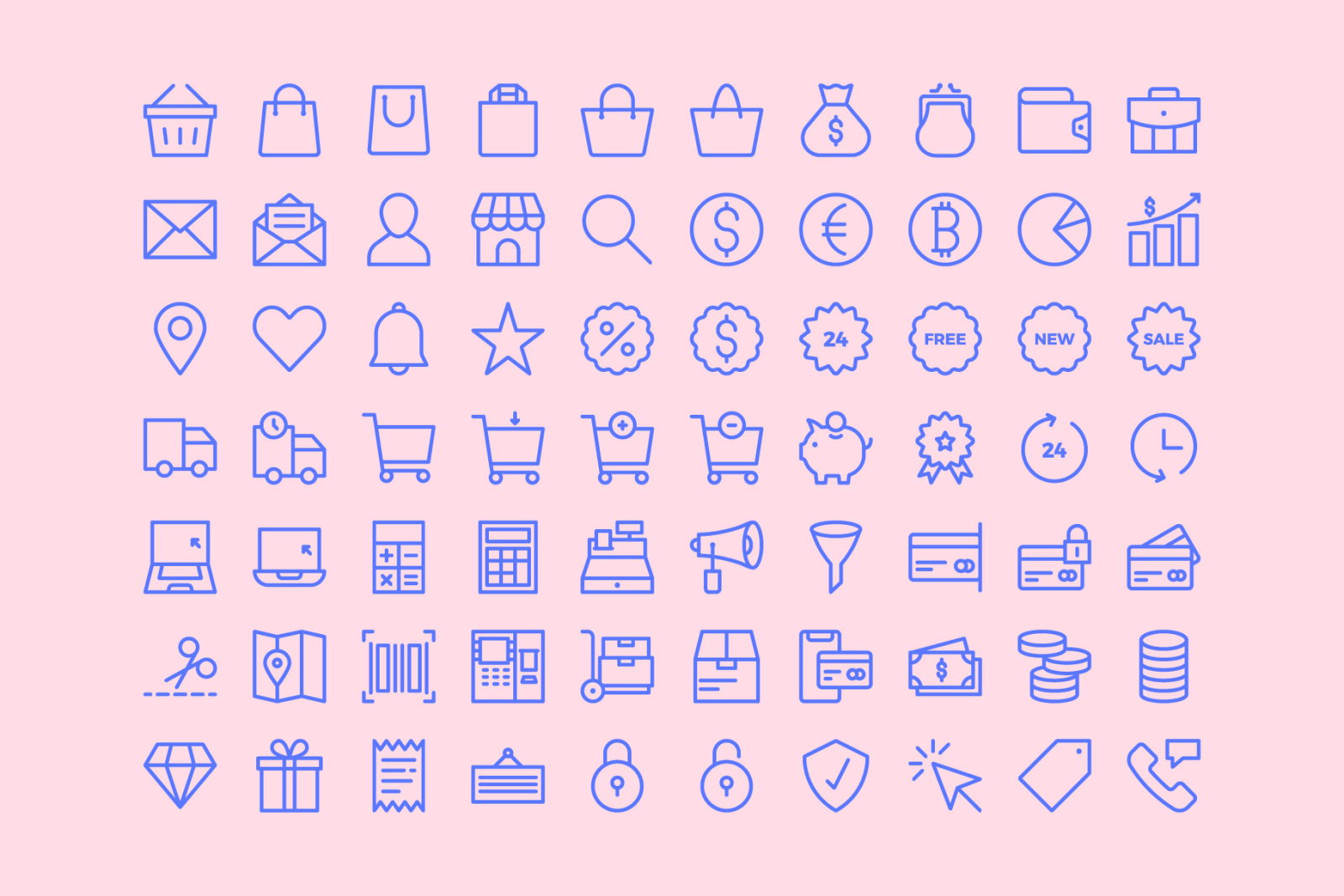 E-Commerce Line Icons