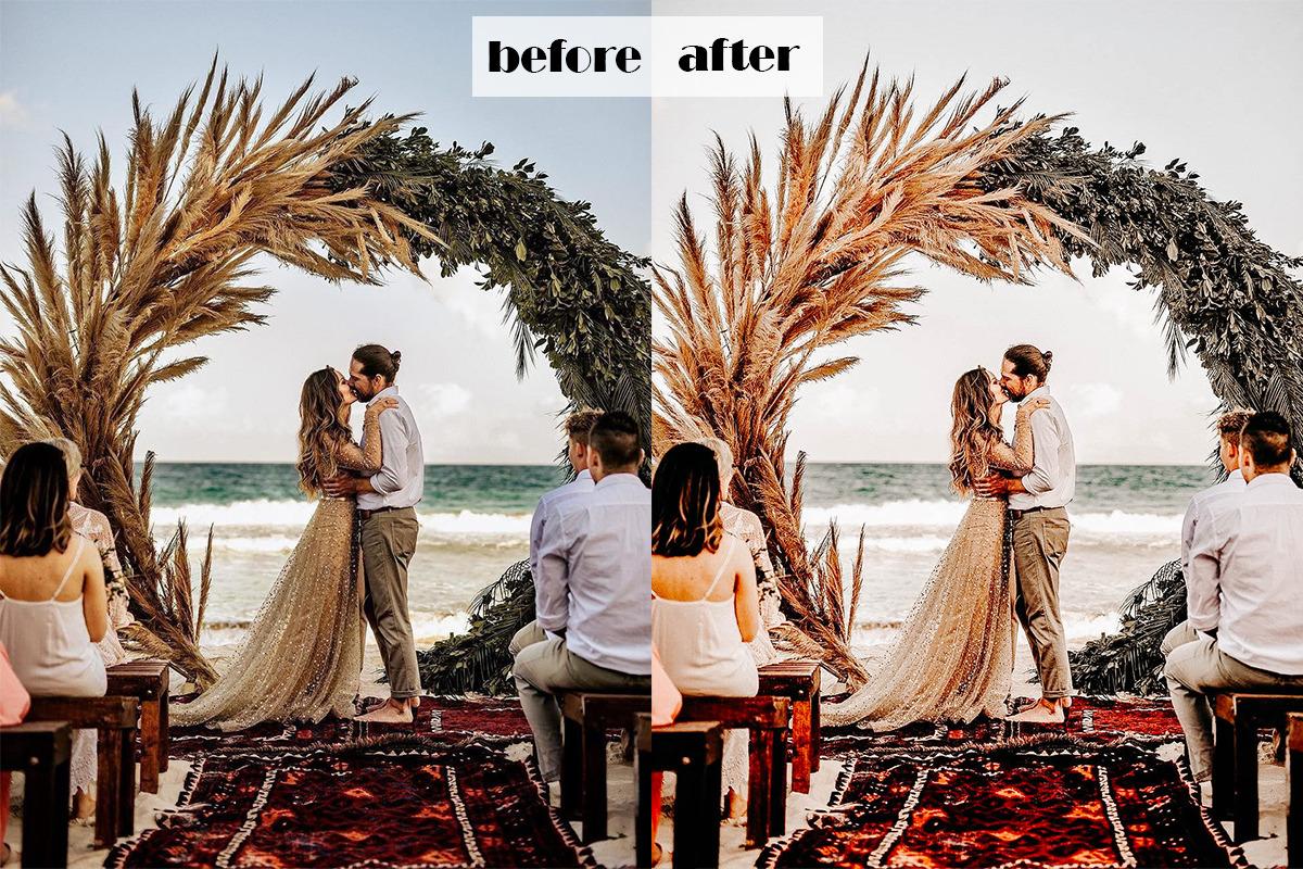 Boho Wedding Lightroom Presets   Mobile + Desktop