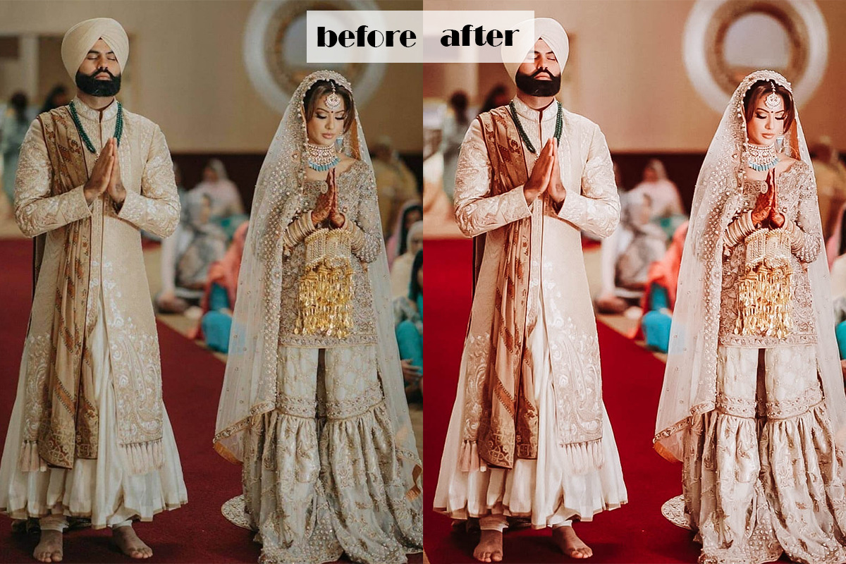 Indian Wedding Lightroom Presets | Mobile & Desktop