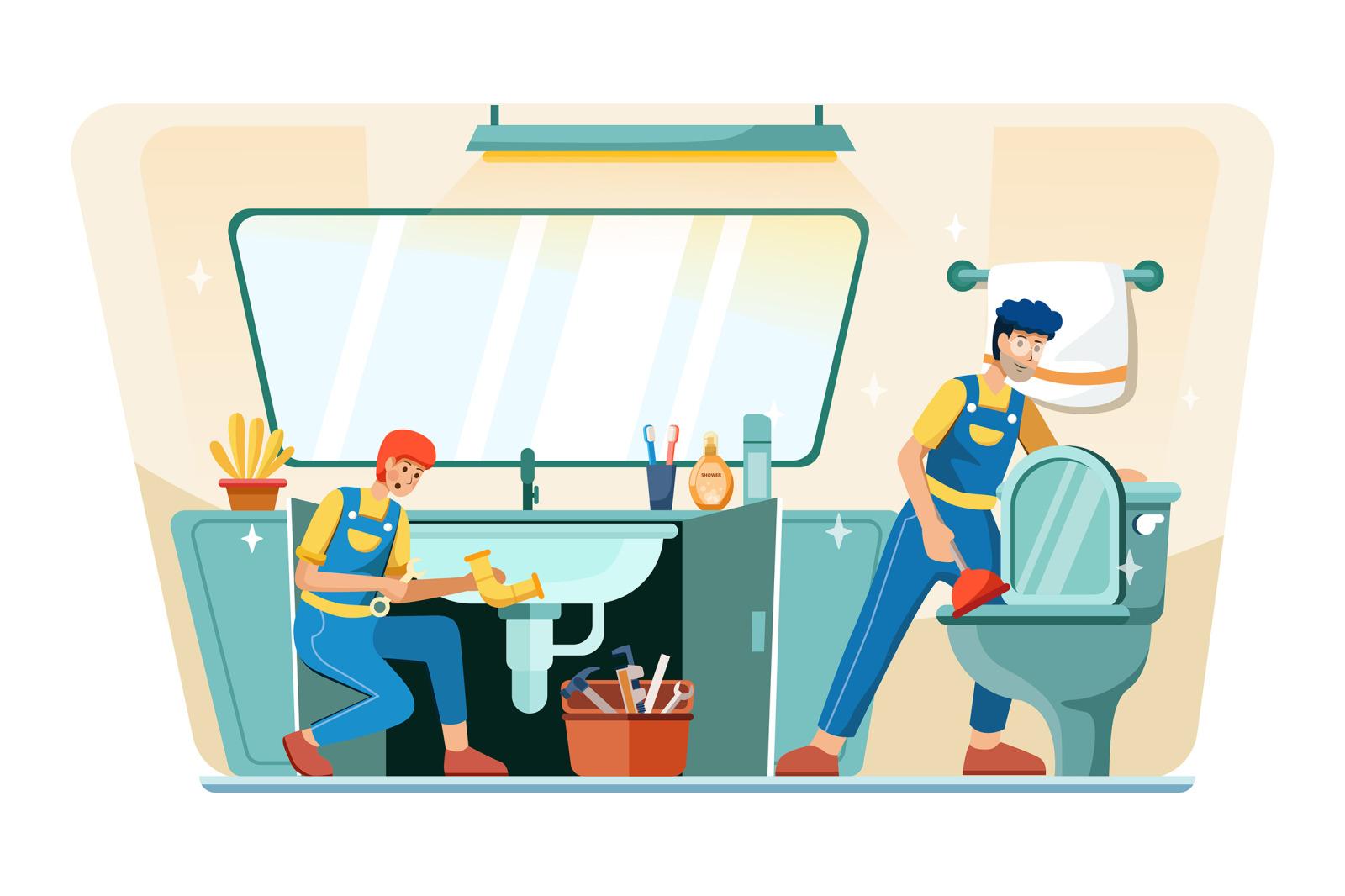 M136_Plumbing Service Illustrations