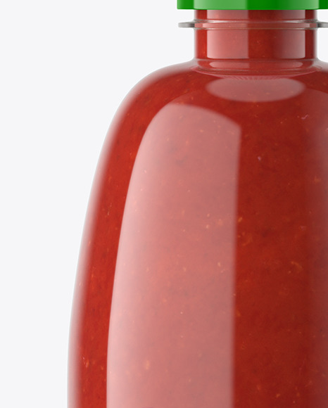Sriracha Sauce Bottle Mockup