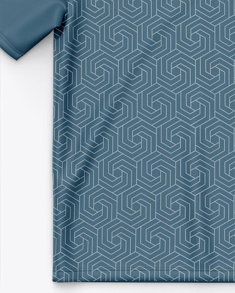 Short Sleeve Polo Shirt - Top View