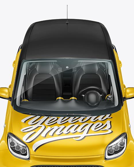 Hatchback Mockup - Front View (High-Angle Shot)