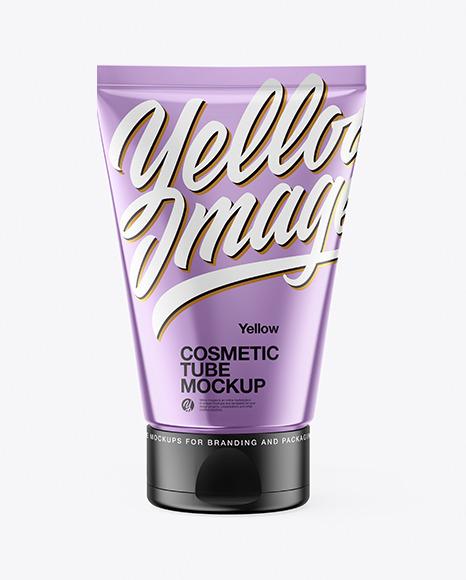 Metallic Cosmetic Tube Mockup