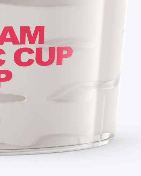 Ice Cream Plastic Cup Mockup