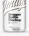 Clear Bottle With Dropper Mockup