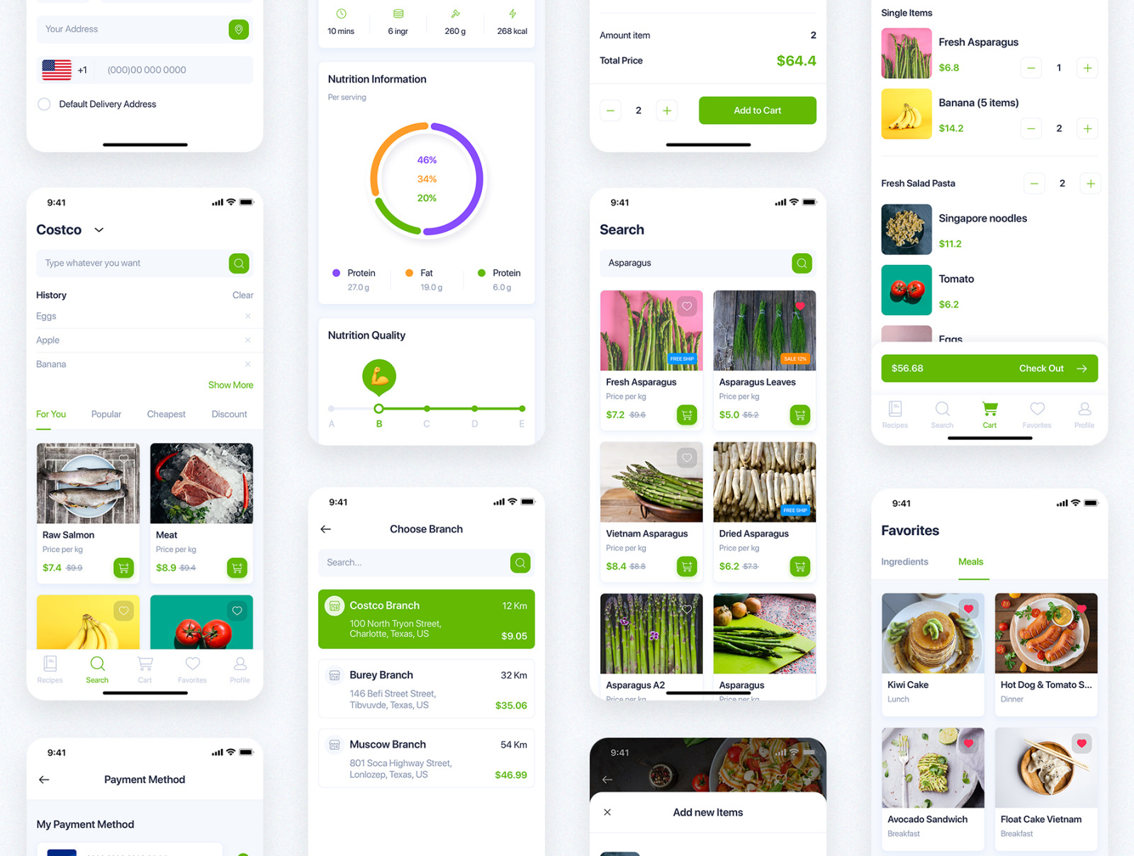 Delites - Online Grocery & Recipes UI Kit