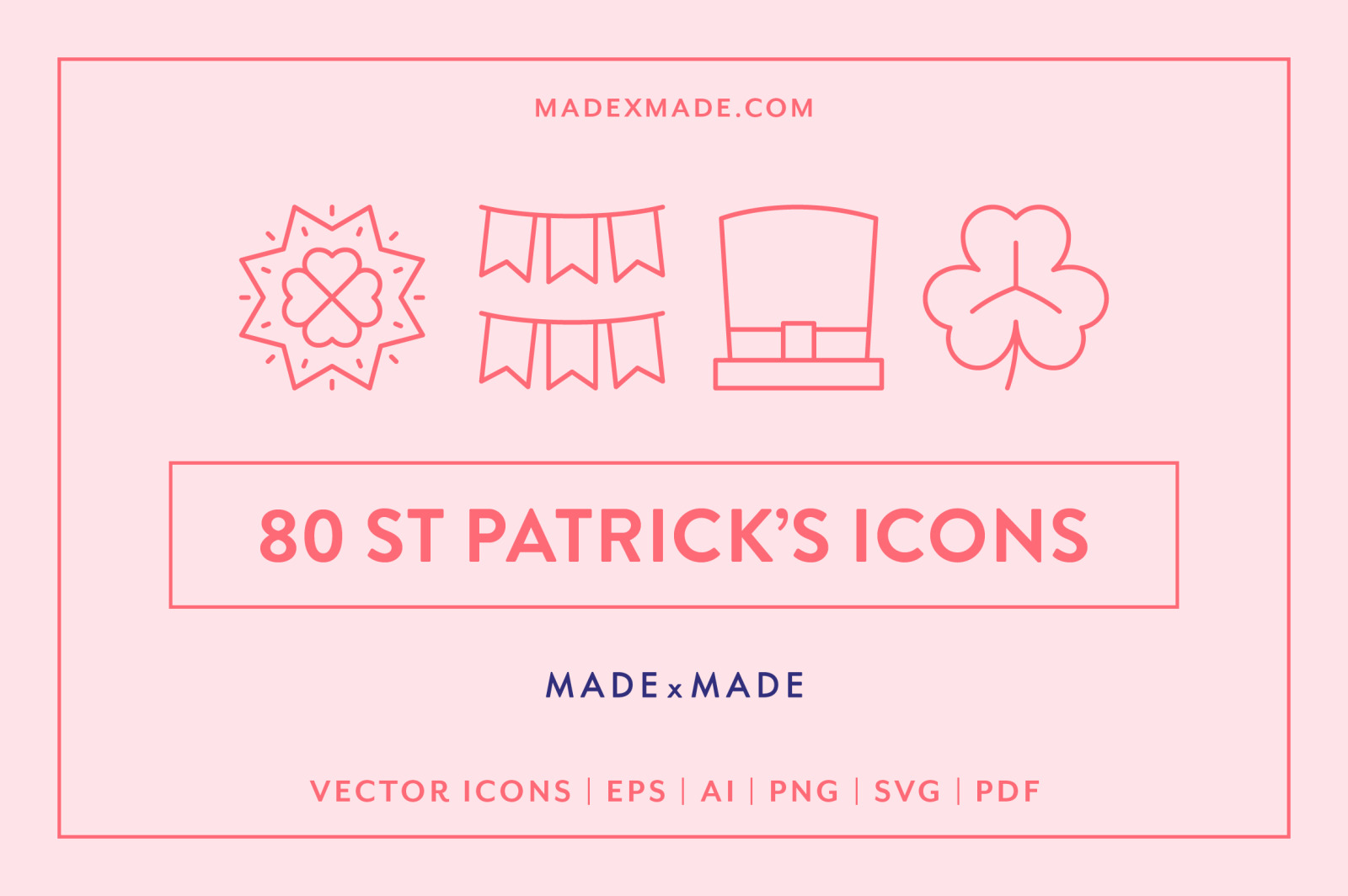 Line Icons – St Patricks Day