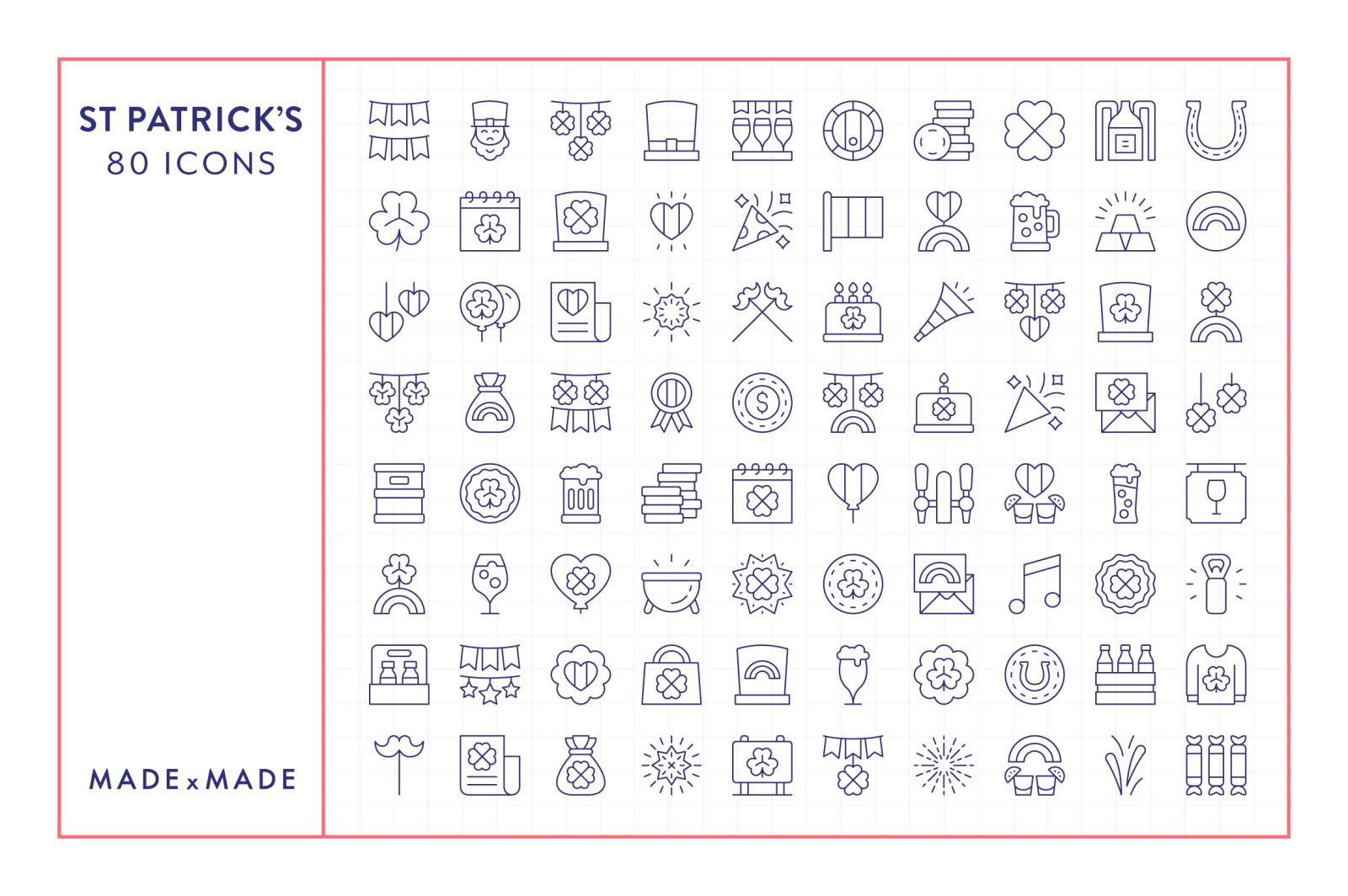 Line Icons – St Patricks Day