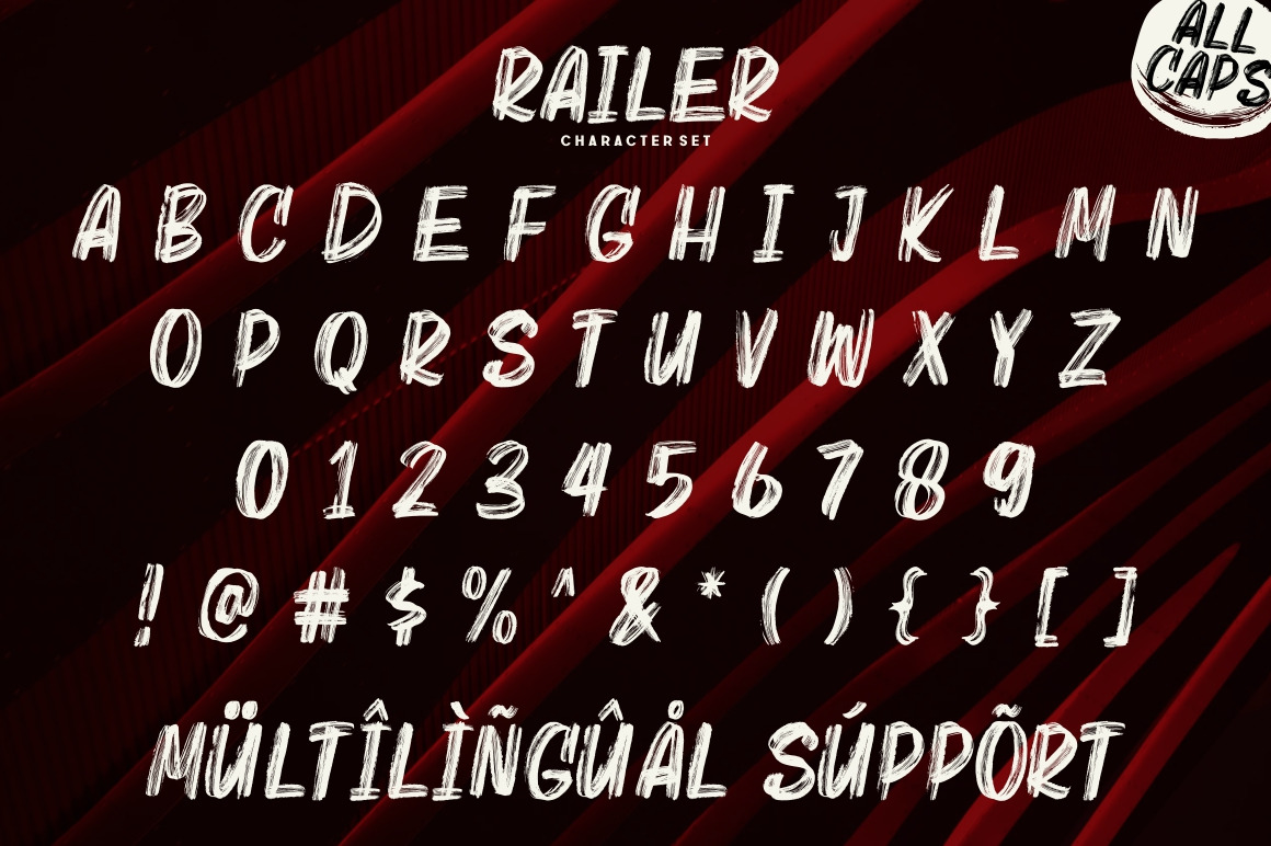Railer | Handbrush Font