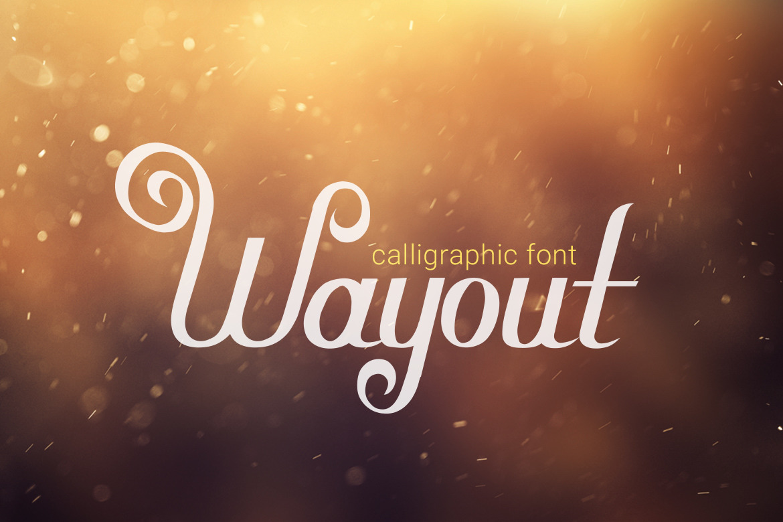 Wayout Calligraphic Vintage Font