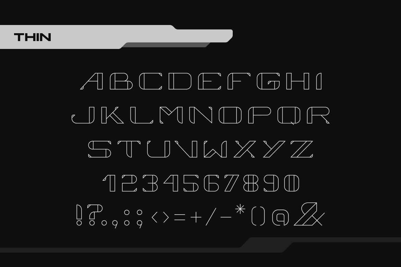 Vortex Digital Technology Font