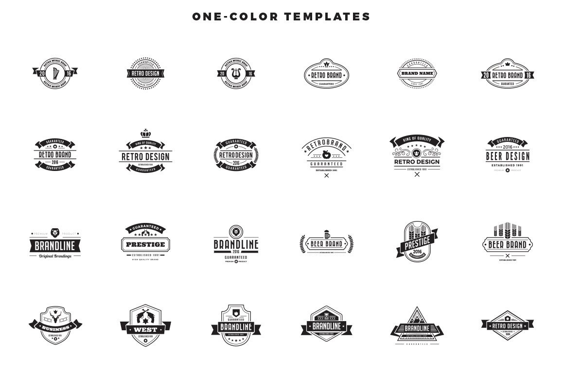 Vintage Labels Badges Logo Templates