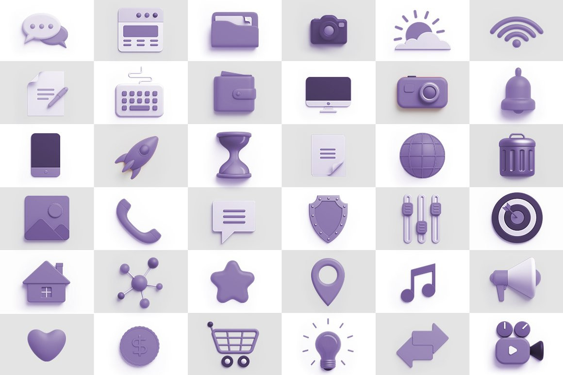 Icons 3D Universal Pack