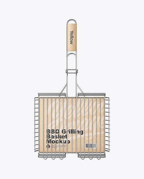 Portable Grilling Basket Mockup
