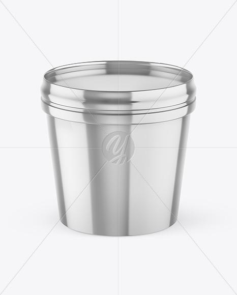 Metallic Ice Cream Cup Mockup