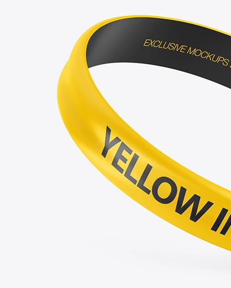 Glossy Silicone Wristband Mockup