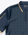 Polo Shirt With ZIp Collar/ Sublimated Polo Shirt - Top View