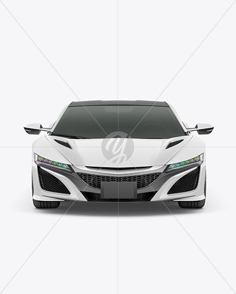 Sport Car Mockup - Front View