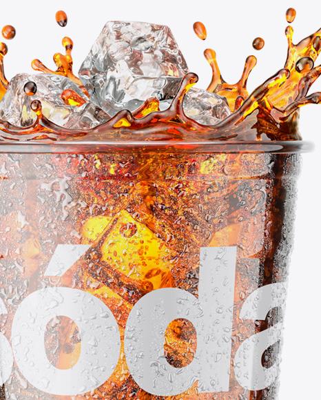 Plastic Cup With Cola Splash